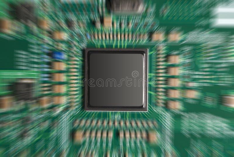 筹码计算机迅速了移动 免版税库存图片