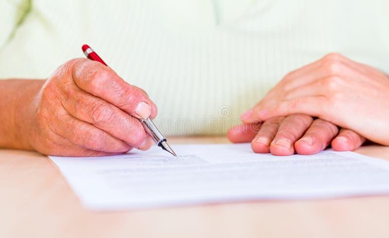 签名 免版税库存照片