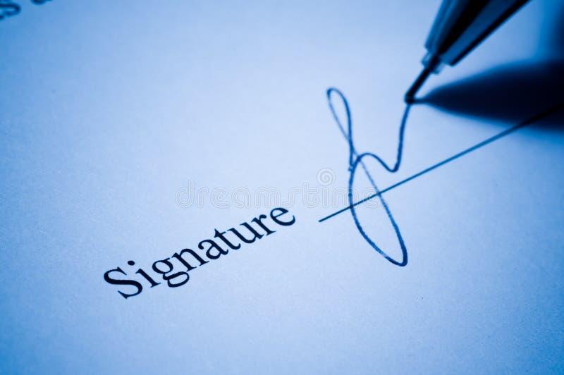 签名 库存图片