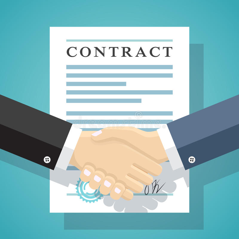 签字条约企业合同 皇族释放例证
