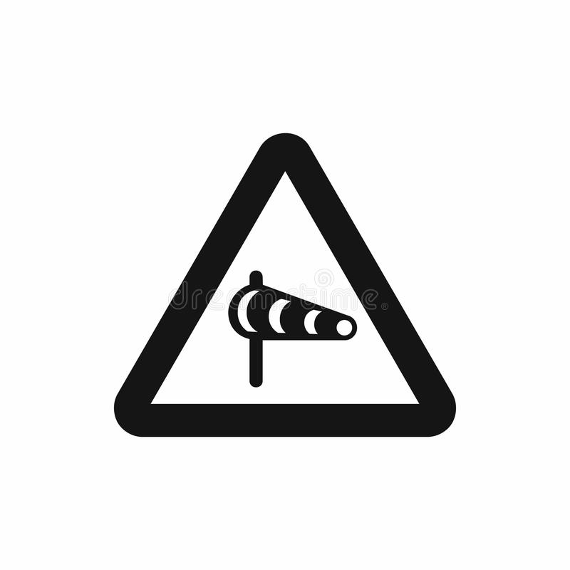 签署关于横风的警告从左象 向量例证