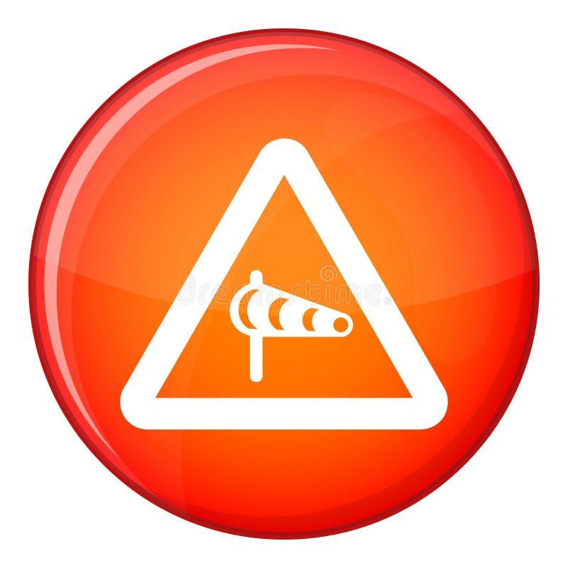 签署关于横风的警告从左边 向量例证