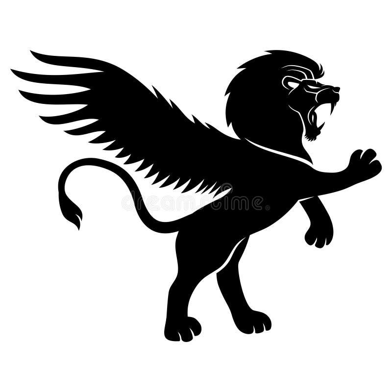 签署向量 狮子 向量例证