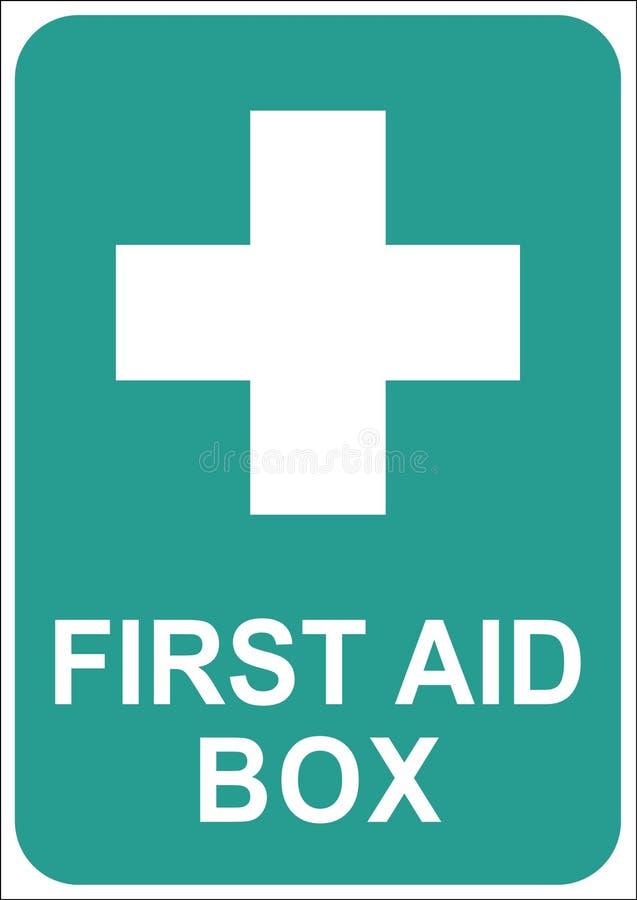 签署急救箱子 向量例证