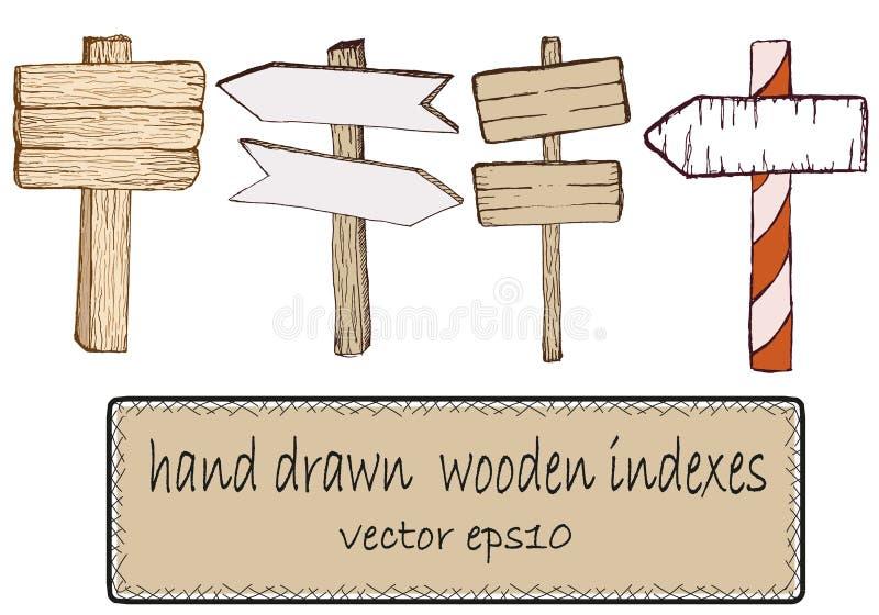 签署木 也corel凹道例证向量 库存图片