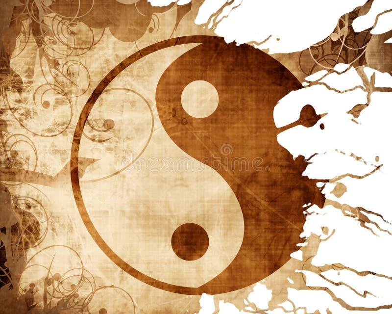 签署杨yin 向量例证