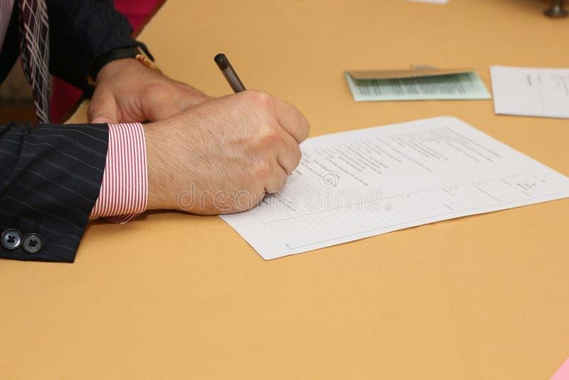 签署的文件 免版税库存照片