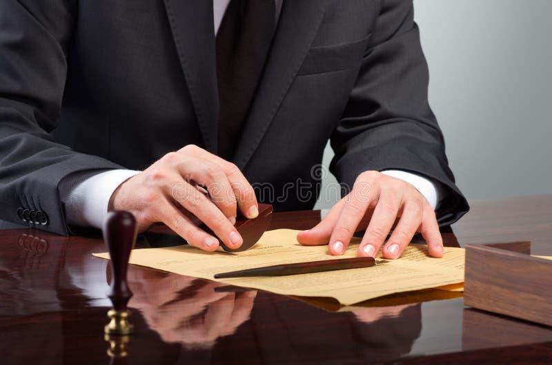 签署的遗嘱 免版税图库摄影