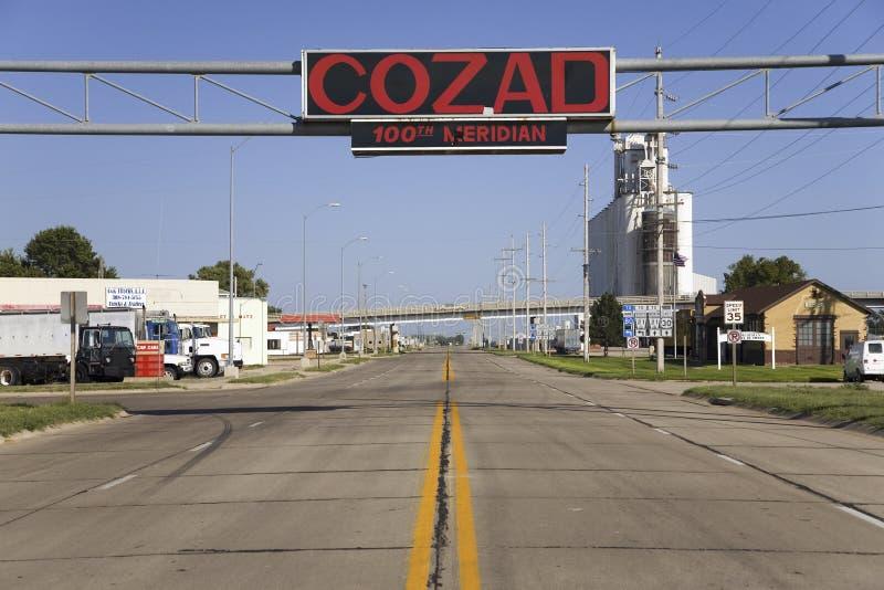 签署那名字Cozad 库存图片