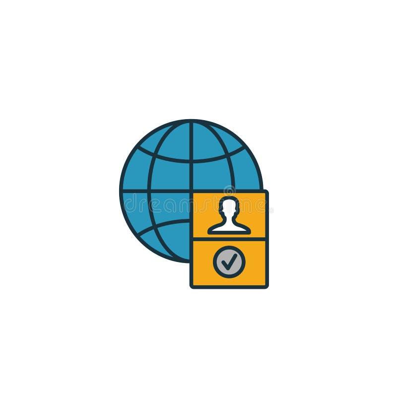 签证图标 图标集合中的简单元素 Creative Visa图标ui、ux、应用、软件和信息图形 皇族释放例证