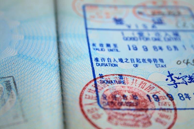 签证 免版税图库摄影