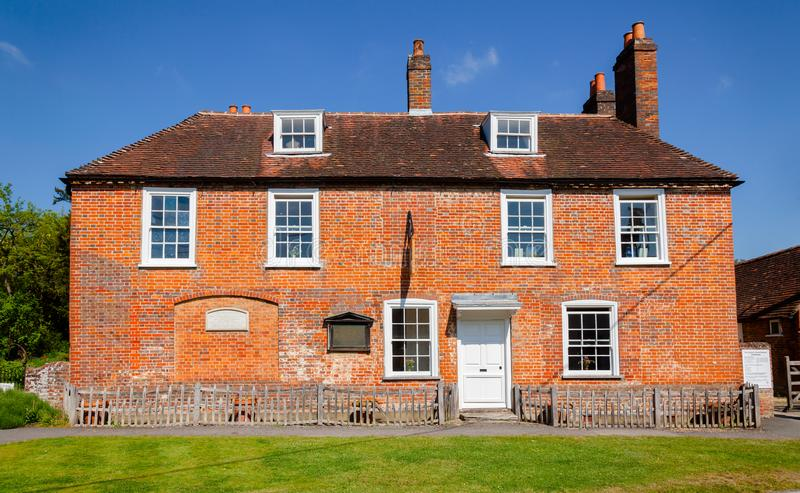 简・奥斯丁议院博物馆在Chawton汉普郡东南Engl 免版税图库摄影