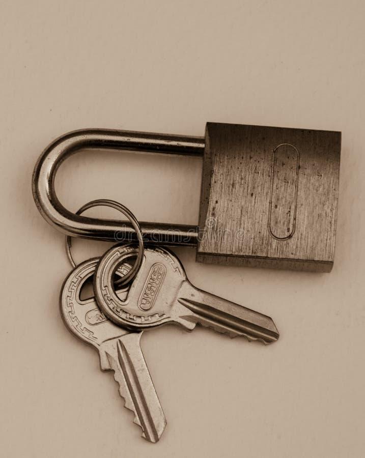 简单和传统挂锁 免版税图库摄影