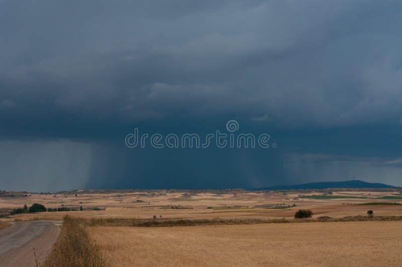 简单地漂移在西班牙人的风暴 库存图片