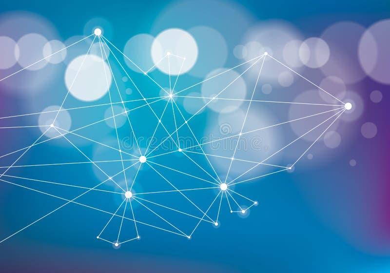 简单派混乱3d连接通信滤网技术a 向量例证