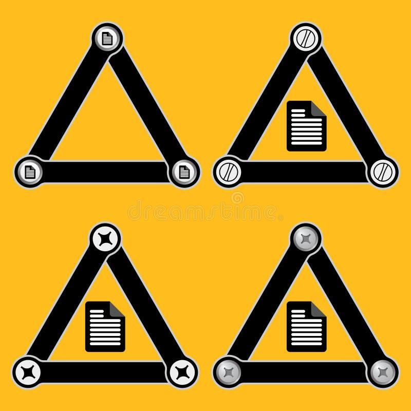 简单的三角 皇族释放例证