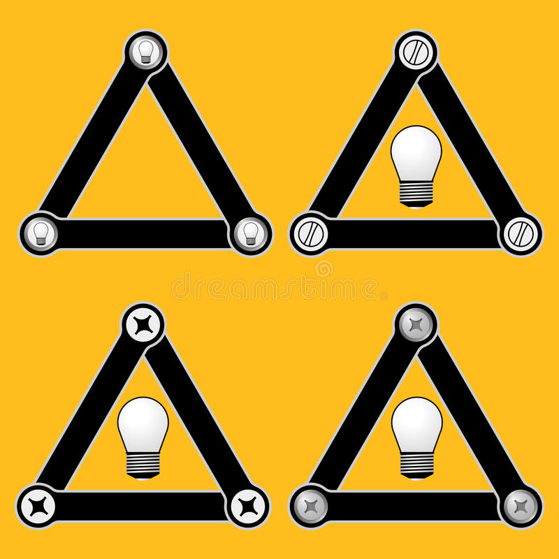简单的三角 向量例证