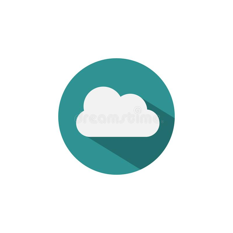 简单的云彩商标象设计模板传染媒介 库存例证