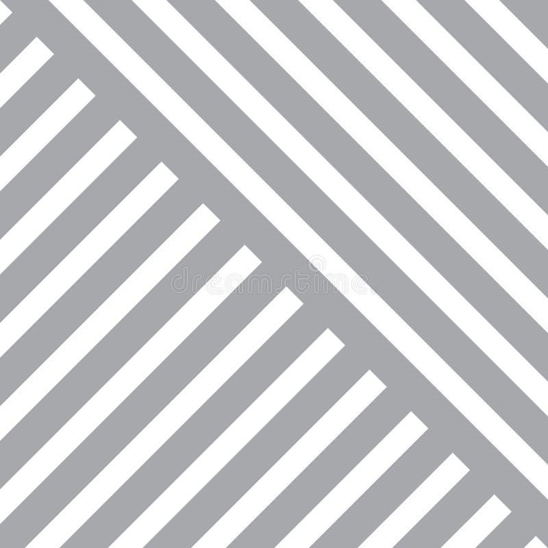 简单的传染媒介几何大胆的线塑造了墙纸和背景的方形的无缝的样式 库存例证