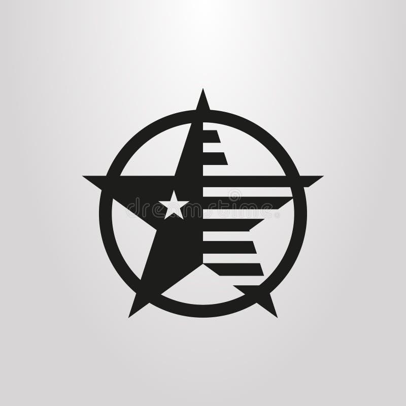 简单的传染媒介摘要美国星条旗图表 皇族释放例证
