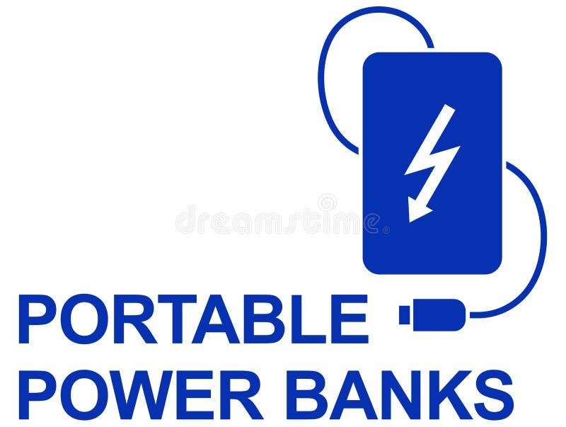 简单的传染媒介象力量银行 向量例证