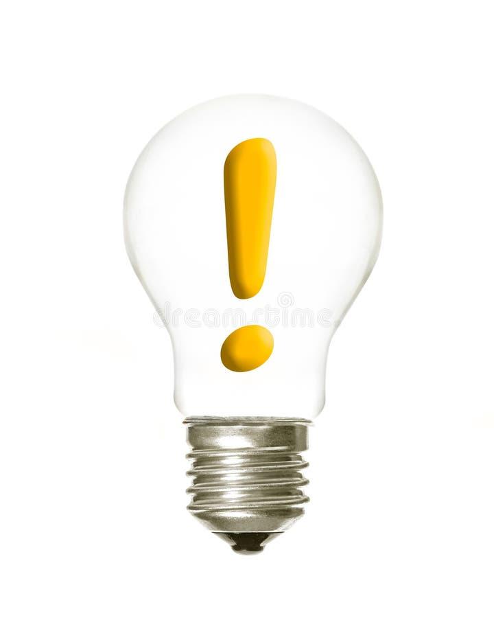简单的光exclamation1 图库摄影