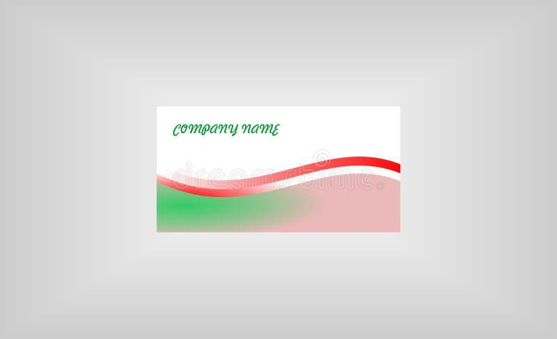 简单的公司卡片设计商标 向量例证