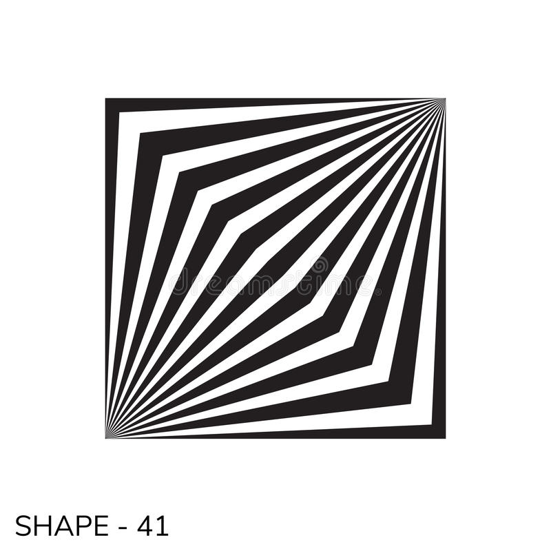 简单的几何形状 库存例证