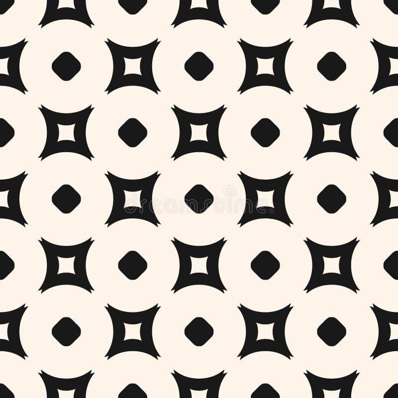 简单的几何无缝的样式,传染媒介最低纲领派黑白照片 皇族释放例证