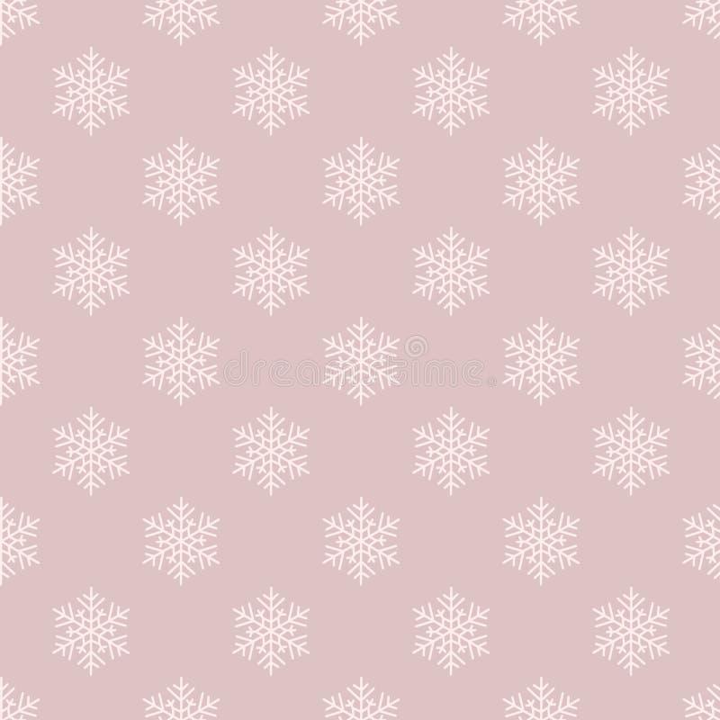 简单的单色漂泊圣诞节雪花导航织品的,墙纸无缝的样式背景,scrapooking 向量例证
