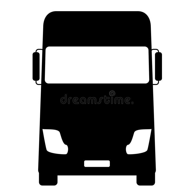 简单的卡车正面图白色背景传染媒介 向量例证