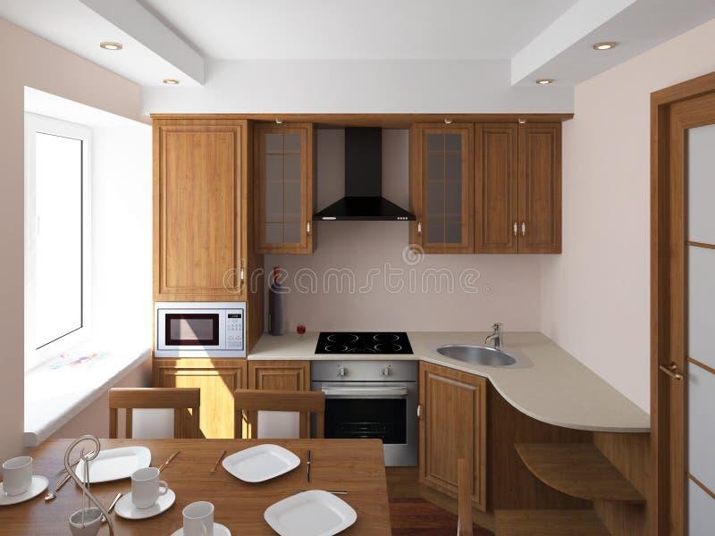 简单的厨房 免版税库存照片