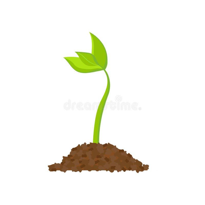 简单的发芽种子图画 新芽,植物,树生长农业象 也corel凹道例证向量 向量例证