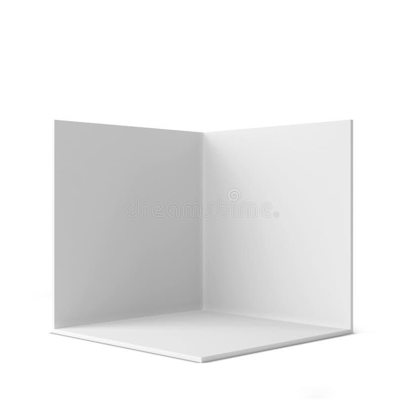 简单的商业展览摊 方角 向量例证