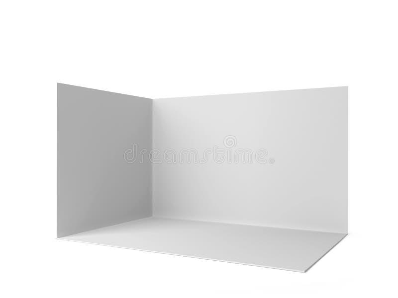 简单的商业展览摊 库存例证