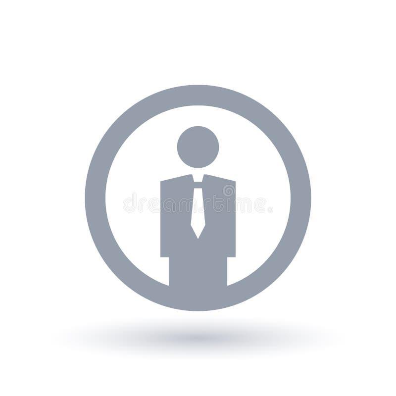 简单的商人象 专业雇员标志 库存例证