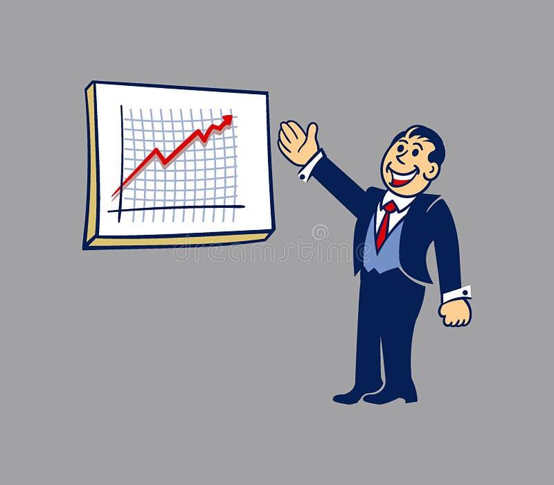 简单的商人介绍 向量例证