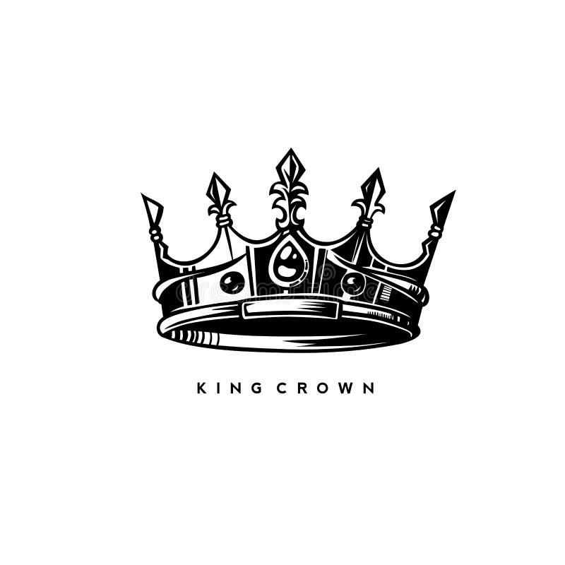 简单的国王冠传染媒介例证 皇族释放例证