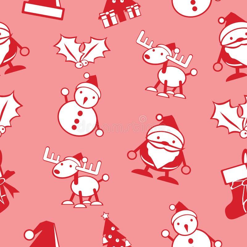 简单的圣诞节无缝的背景传染媒介 皇族释放例证