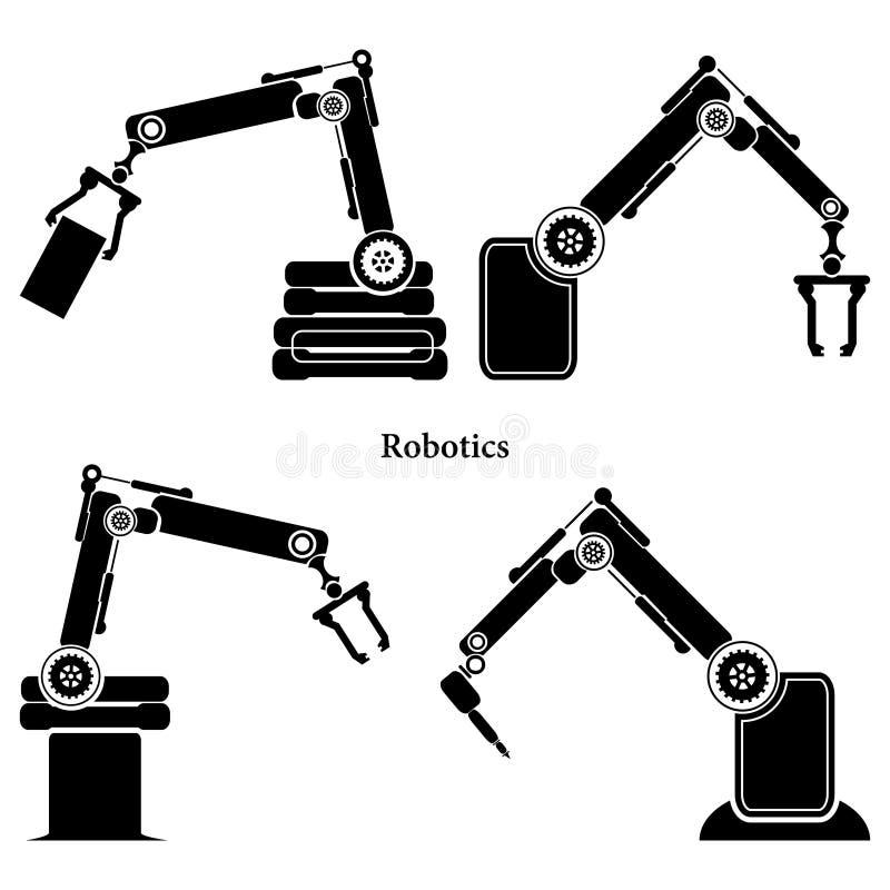 简单的套机器人相关线象 包含这样象象自动驾驶仪, Chatbot,打破的马胃蝇蛆和更 编辑可能的冲程 皇族释放例证