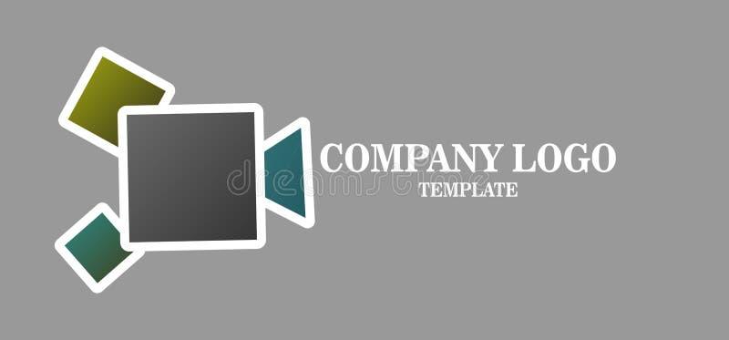 简单的媒介企业商标传染媒介象 机器人网络的例证 库存例证