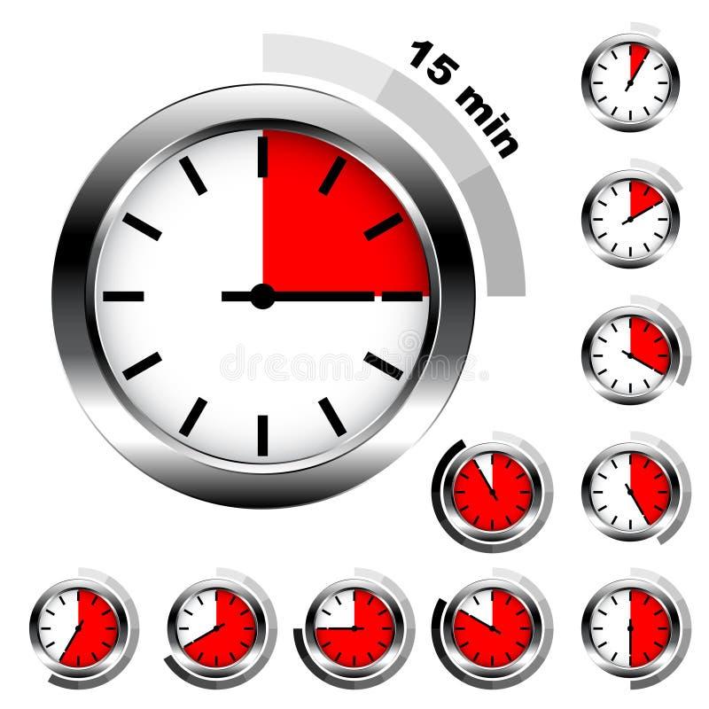 简单的定时器 库存例证