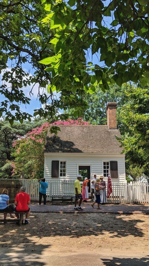 简单的家庭殖民地威廉斯堡 库存照片