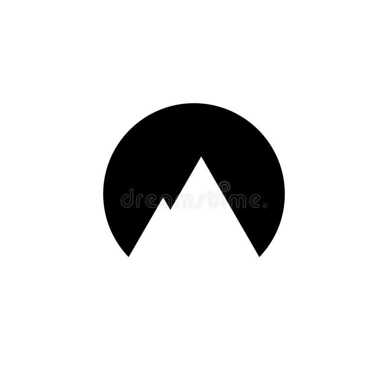 简单的山商标 也corel凹道例证向量 库存例证