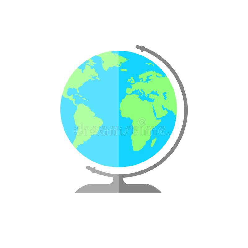 简单的平的地球象 世界标志例证 向量例证