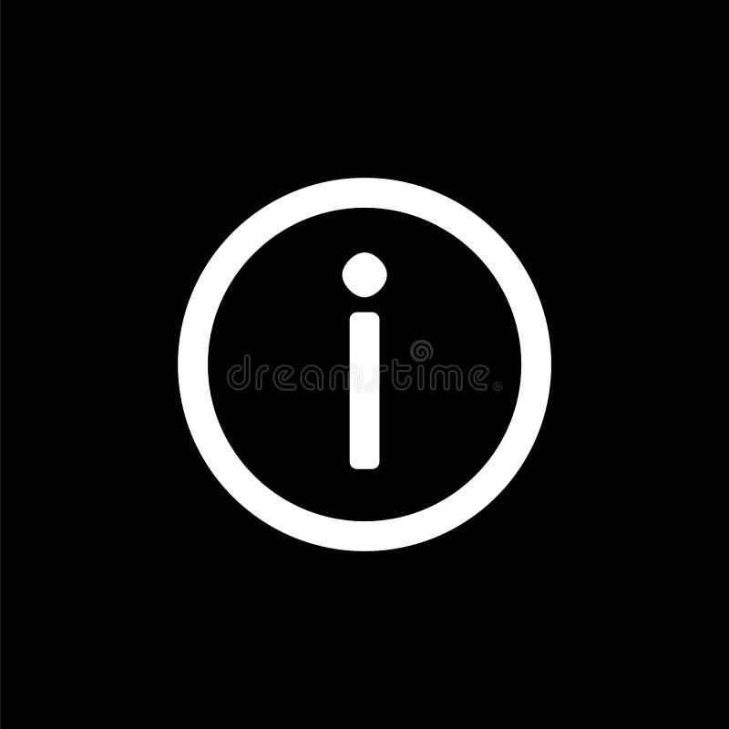 简单的平的样式ui设计的信息象 向量例证