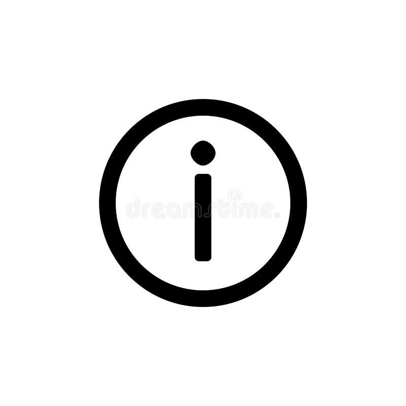 简单的平的样式ui设计的信息象 库存例证