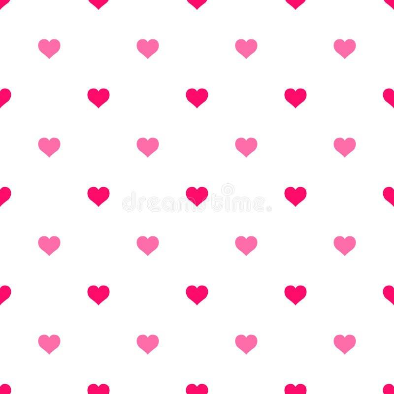 简单的心脏无缝的传染媒介样式 重点 平的设计不尽的混乱纹理由微小的心脏制成 向量例证