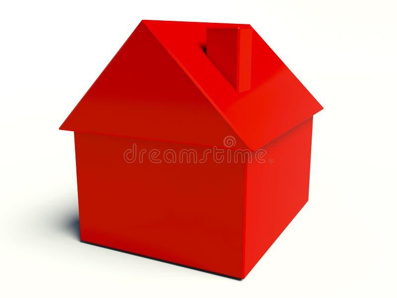 简单的房子 库存例证