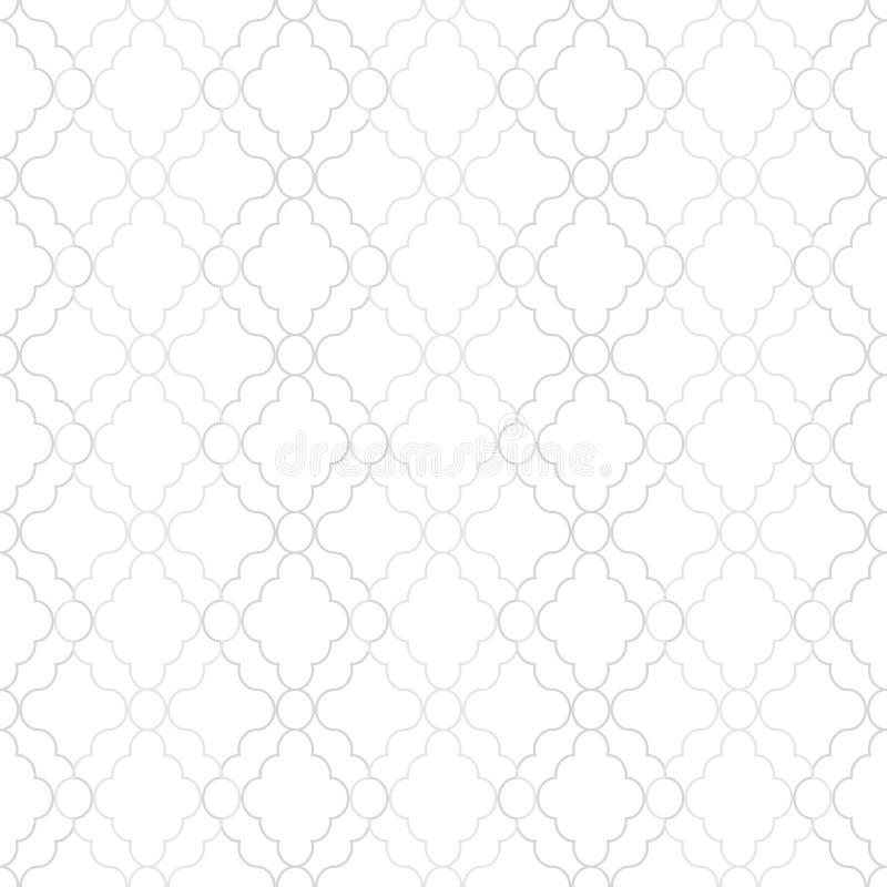 简单的无缝的装饰几何样式 栅格反复性的葡萄酒背景-灰色典雅的minimalistic设计 皇族释放例证
